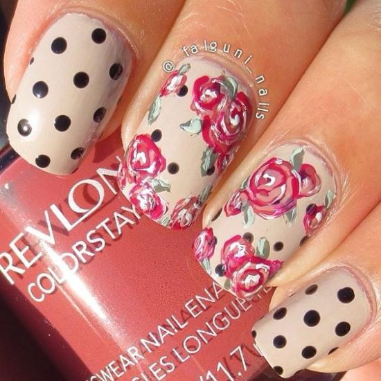 Rose Nail Art Designs