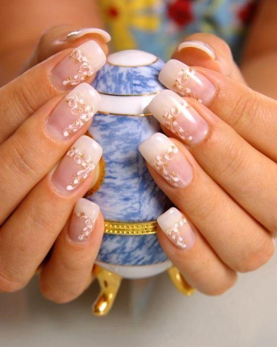 Top 50 golden wedding nail designs nail design ideaz nail designs for weddings prinsesfo Choice Image