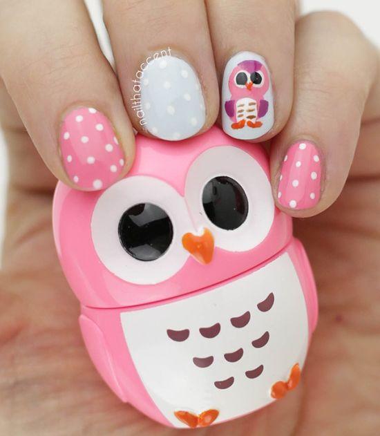 Owl Nail Art Designs