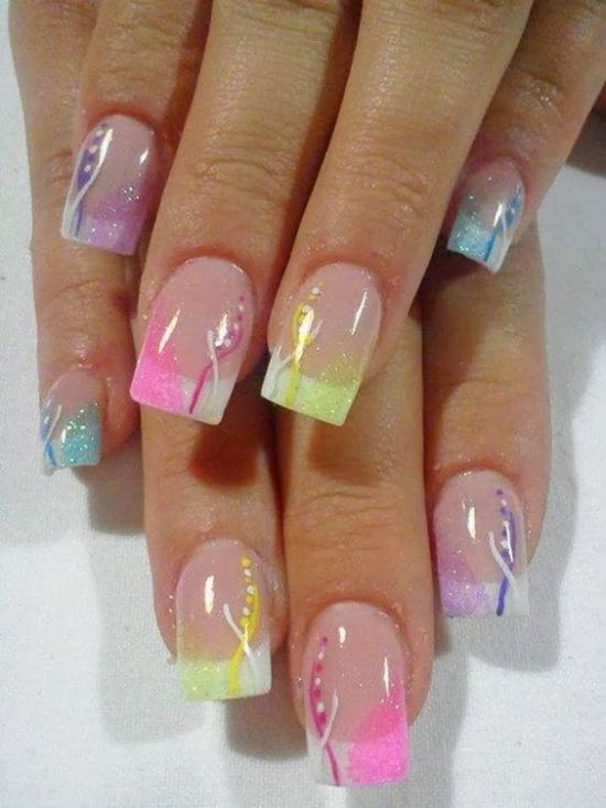 39 rocking easter nail art designs nail design ideaz easy glittery easter nails for 2016 prinsesfo Choice Image