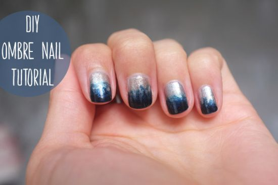 Gorgeous two tone mixed metal nails - 35 Stunning Two Tone Nails Designs Nail Design Ideaz