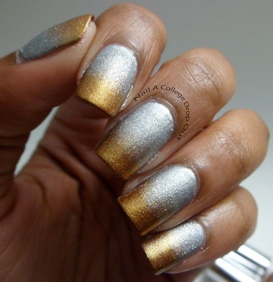 35 Stunning Two Tone Nails Designs Nail Design Ideaz