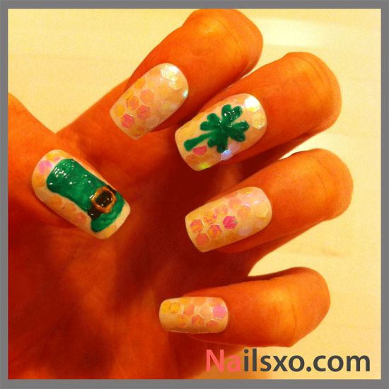 St Patrick Day Nail Art