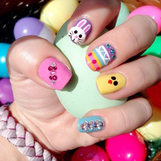 39 Rocking Easter Nail Art Designs | Nail Design Ideaz