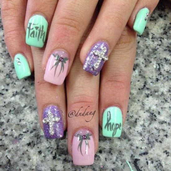 Religious Easter nail art design - 39 Rocking Easter Nail Art Designs Nail Design Ideaz
