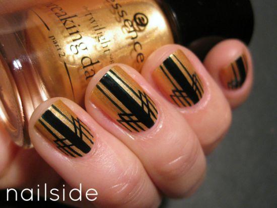 Gold Nail Art Designs