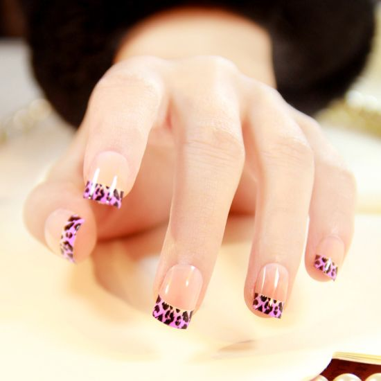 Wild French Tip Nail Designs: 37 Amazing Purple Nail Designs