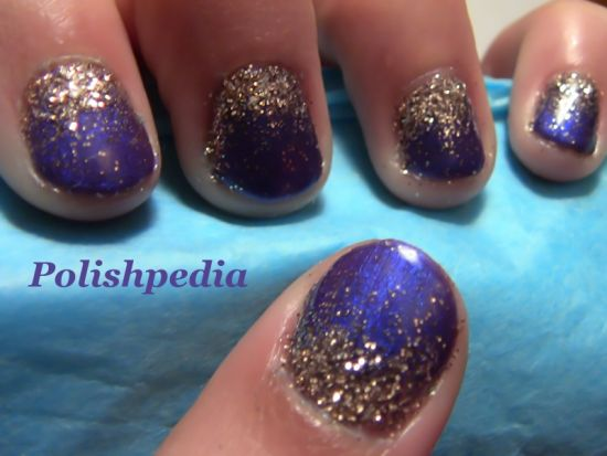 Gold and purple nails with ombre effect - 37 Amazing Purple Nail Designs Nail Design Ideaz