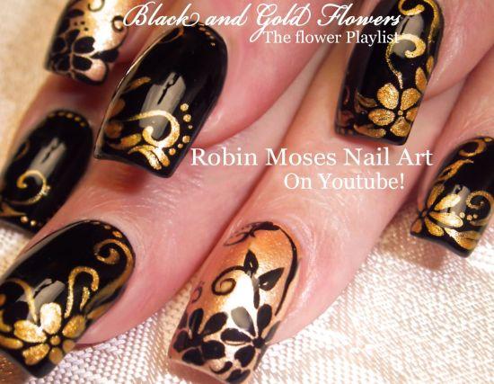 Black And Gold Nail Polish