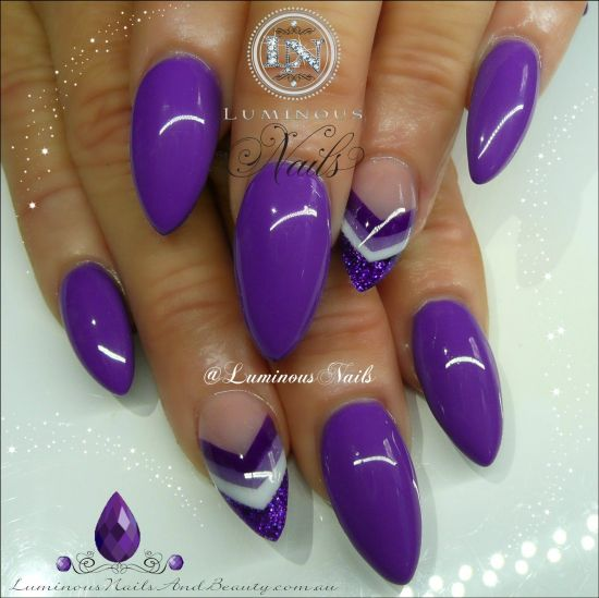 37 amazing purple nail designs nail design ideaz purple nail polish prinsesfo Gallery