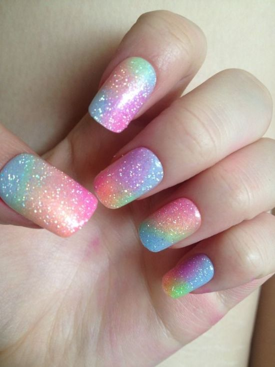 33 Trendy Glitter Nail Art Design Ideas To Rock 2016