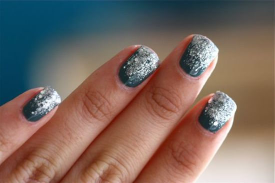 33 trendy glitter nail art design ideas to rock 2016 pleasing green nails with glitter nail tips prinsesfo Choice Image