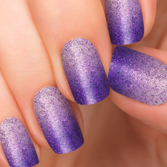 Purple Nail Art Designs Two tone shimmery purple nails - 37 Amazing Purple Nail Designs Nail Design Ideaz