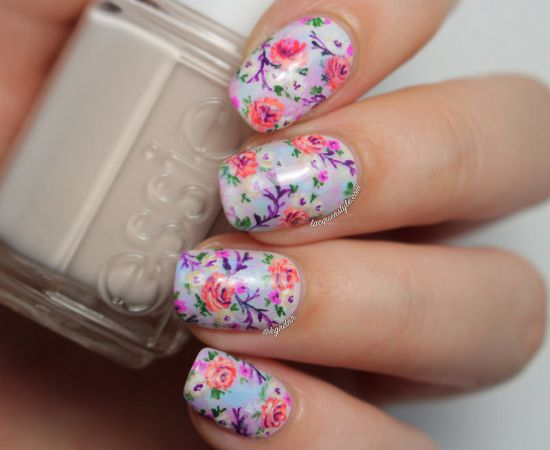 39 stylish pastel nail designs for 2016 nail design ideaz pastel nail art designs 2016 summer pastel nails with flowers prinsesfo Image collections