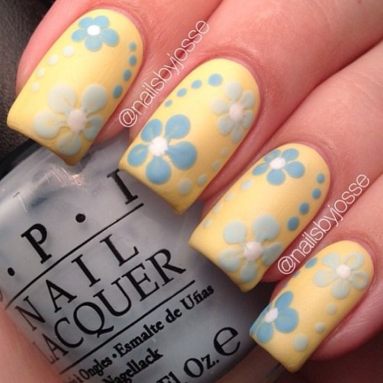 Pastel Yellow Nail Polish