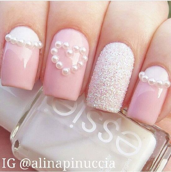 Pink fall pastel nail art for 2016 - 39 Stylish Pastel Nail Designs For 2016 Nail Design Ideaz