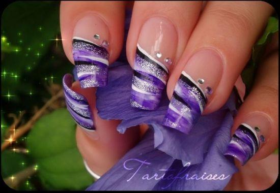 35 Abstract Stone And Rhinestone Nail Art Nail Design Ideaz