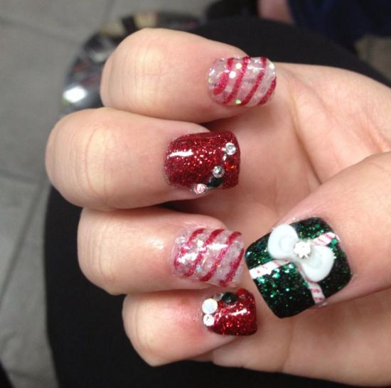 christmas nails for little girls