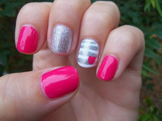 8Easy nail designs with stripes - 35 Super Cute And Easy Nail Designs For Kids Nail Design Ideaz