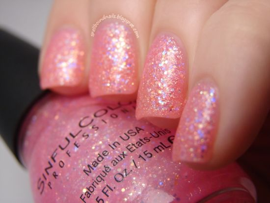 37 beautiful pink glitter nail art ideas nail design ideaz shimmering pink glitter nail art prinsesfo Images