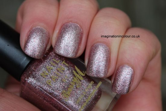 37 beautiful pink glitter nail art ideas nail design ideaz stunning pink silver glitter nails with rose gold tones prinsesfo Images