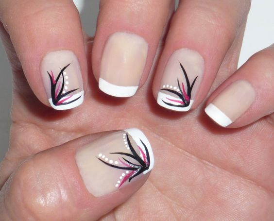 40 voguish nail art ideas for short nails nail design ideaz 40french tip nude nails with swirl patterns image credit uas decoradas backnext tags nail art ideas for short nails prinsesfo Image collections