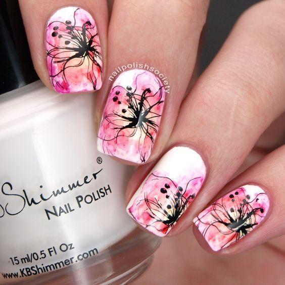 38 Appealing Watercolor Nail Designs Nail Design Ideaz