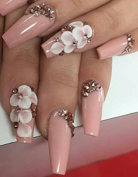 Contemporary Pink 3d Nail Designs Collection Nail Art Design Ideas