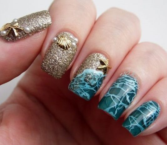 Breathtaking Beach Nail Design