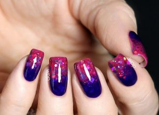 Glitter Jelly Gradient Nails