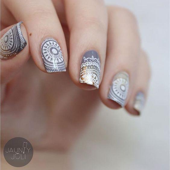 30 Exquisite Mandala Nail Art Ideas | Nail Design Ideaz