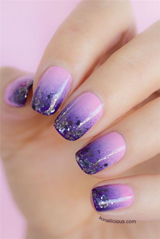 35 Mesmerizing Glittered Gel Nail Designs Nail Design Ideaz Page 11