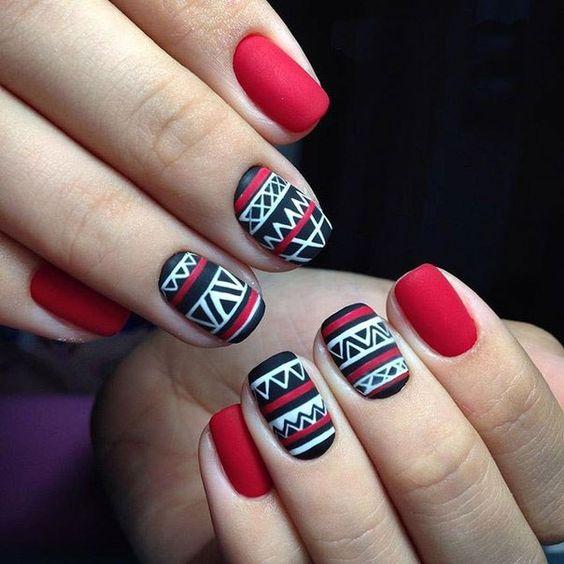 40 Stylish Tribal Nail Art Ideas