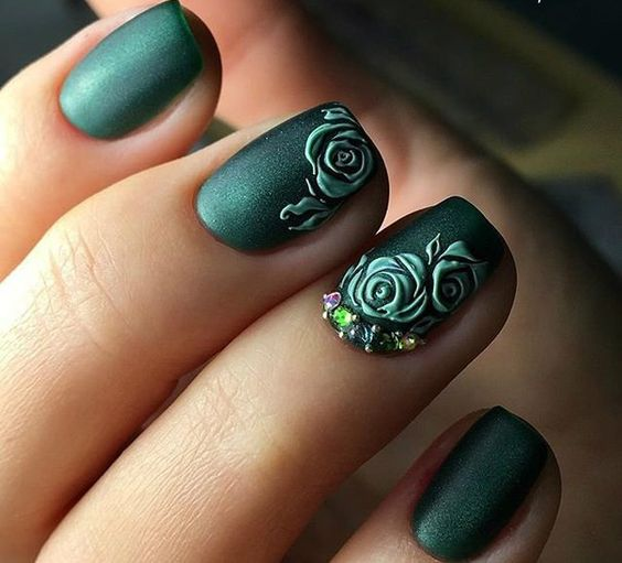 40 Captivating 3D Floral Nail Art Designs