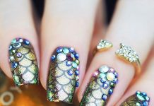 Sophisticated Mermaid Nail Art