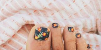 Tropical Toe Nail Art