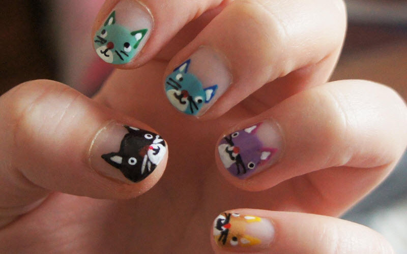 - 45 Purrfect Kitty Cat Nail Art Design Nail Design Ideaz