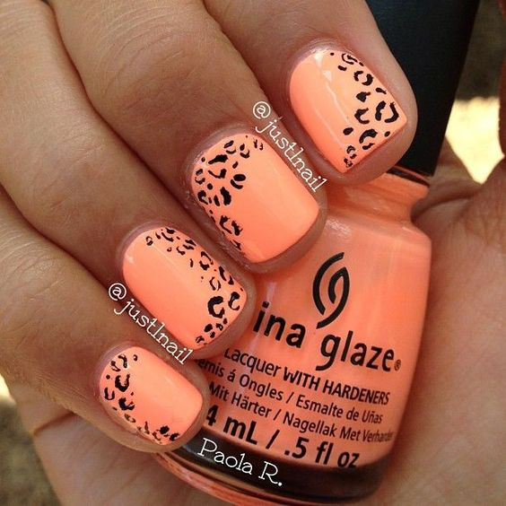 42 Trendy Orange Nail Designs Nail Design Ideaz