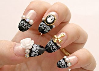 Baroque Themed French Nails