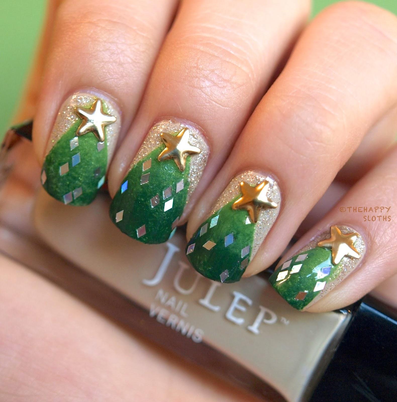 Christmas Tree Nails Design: 30 Rocking Christmas Tree Nails