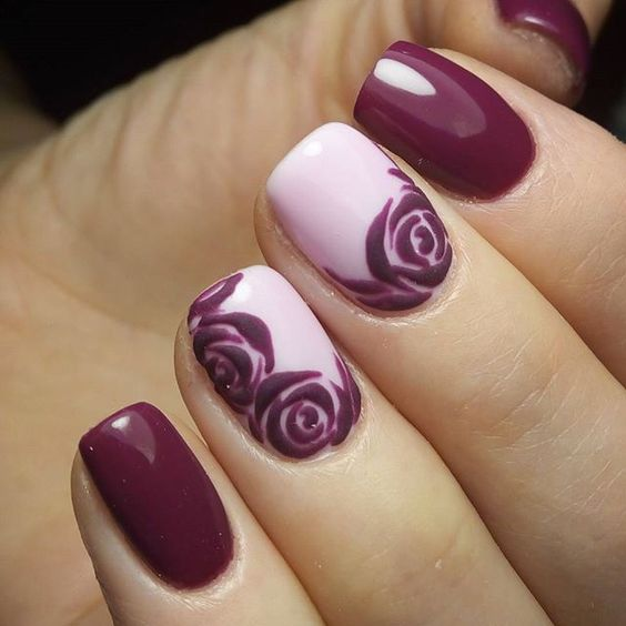 35 stunning rose nail designs nail design ideaz 35embossed roses on pink nails prinsesfo Gallery