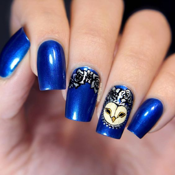 40 Fabulous Owl Nails Design | Nail Design Ideaz
