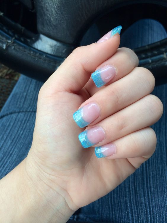 20 Picture Perfect Light Blue Acrylic Nails Nail Design Ideaz Page 10