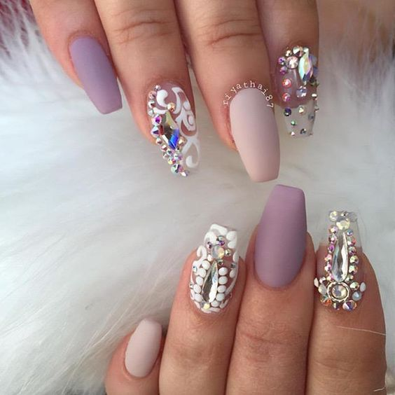 30jewels On Transpa Nails
