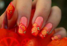 Lovely Orange Nail Art