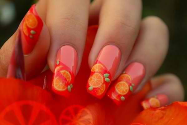 42 Trendy Orange Nail Designs Nail Design Ideaz