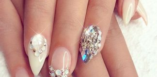 Lustrous Diamond Nails