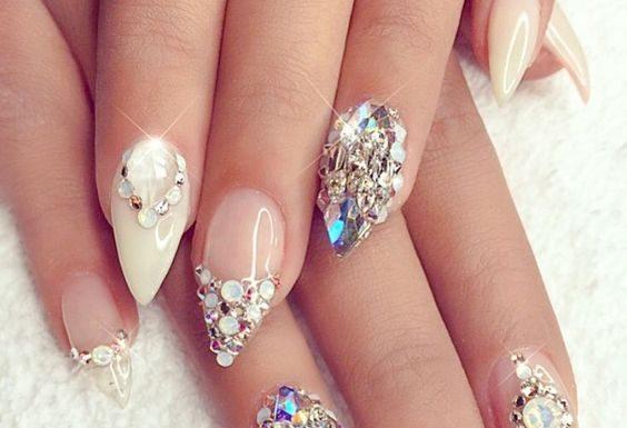 Lustrous Diamond Nails