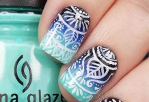 Mandala Ombre Nail Art