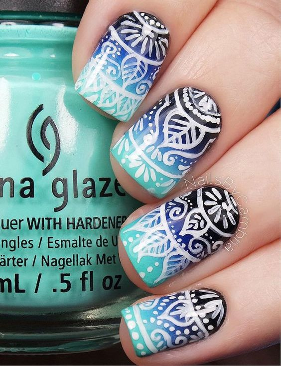 40 Stunning Nail Ombre Designs Nail Design Ideaz
